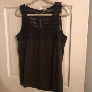 J.Crew tank with top detail
